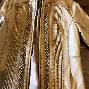 Big Chill Vintage faux leather jacket cognac color